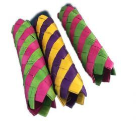 """Finger Trap Woven Paper Stick 5"""" One Supplied"""