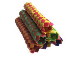 """Finger Trap Woven Paper Sticks Giant 6"""" SINGLES"""