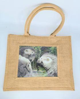 Jute Bag Natural African Grey
