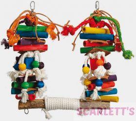 Rope Super Swing Medium Parrot