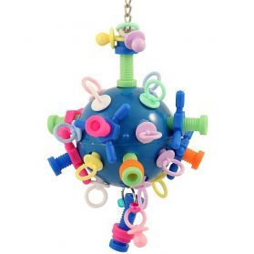 Nuts Bolts And Binky Medium Bird Toy