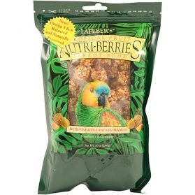 Lafeber NutriBerries Tropical Fruit Complete Parrot Food 284g