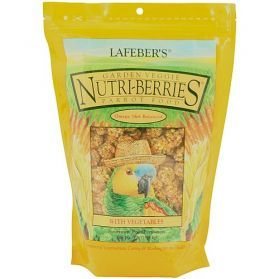 Lafeber NutriBerries Garden Veggie Complete Parrot Food 284g