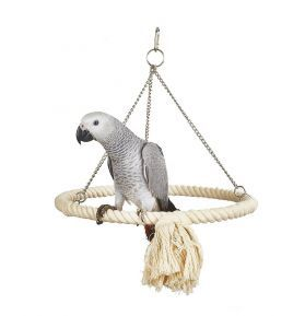 Horizontal Ring Rope Parrot Toy