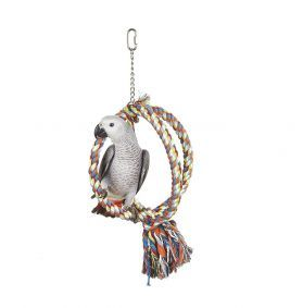 Large Bird Rope Sphere Bird Toy