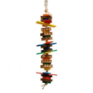 Jumpy - Multi-textured Parrot Toy - Medium