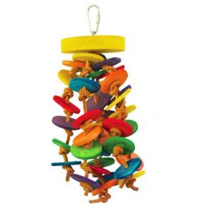 Loopy Leather Medium Parrot Toy