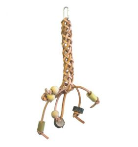Leather Plait Medium Bird Toy