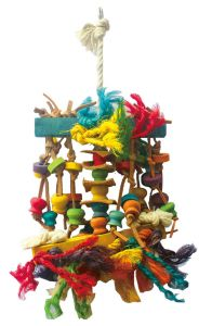 Feather Me Timbers Wood & Rope Bird Toy