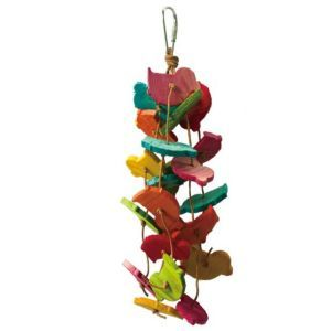 Bouncing Birds Wood & Leather Toy