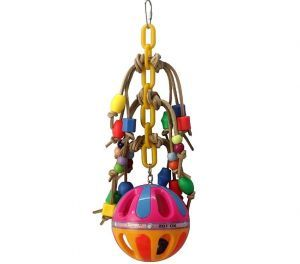 Jingle Leather & Beads Small Bird Toy