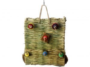 Grassy Wall Shredding Bird Toy