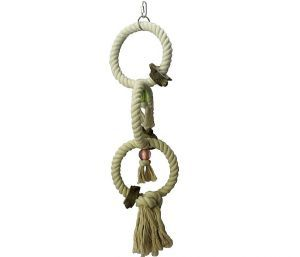 Triple Rope Hoops Small Bird Toy