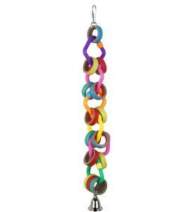 Link A Bagel Bird Toy With Plastic Shapes