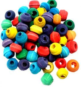 60 Very small wood Beads - Bird Toy Making Parts