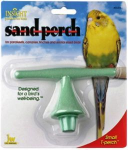 Sanded 'T' Small Bird Perch