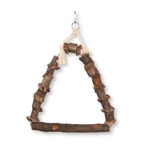 Natural Wood Bird Swing