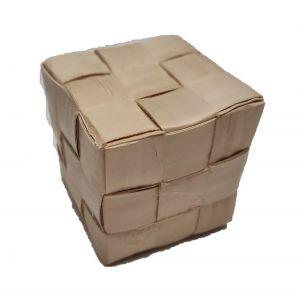 Large Raffia Cube 2