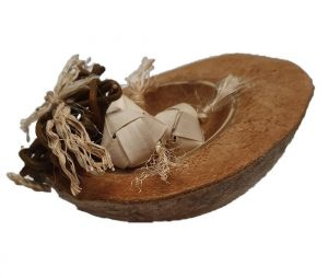 Nest N Eggs Coconut Bird Toy Natural