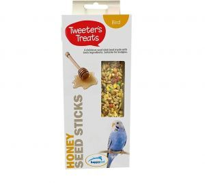 Tweeter's Treats Seed Sticks for Budgies - Honey - Pack of 2