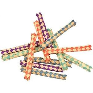 Finger Traps Woven Paper Sticks Bird Toy