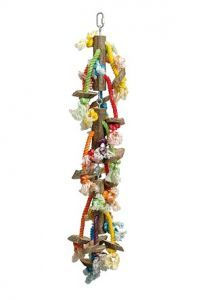 Lots Of Legs Wood & Rope Bird Toy
