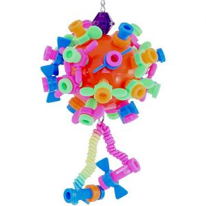 Ball Of Nuts And Bolts Bird Toy