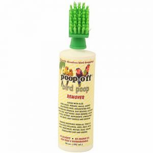 Poop-Off Bird Clean Up Liquid - With brush 16oz