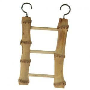 Natural Bamboo 3 Step Bird Ladder