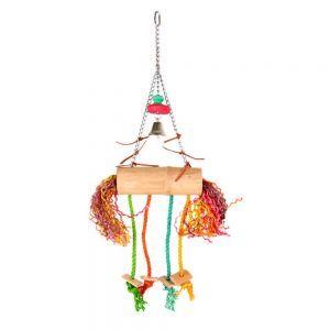 Bamboo Coconut Swinger Bird Toy