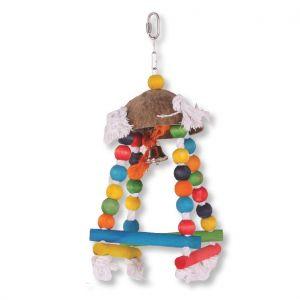 Blocks Of Fun Wooden Bird Swing