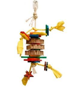 Card Tower Medium Foraging Bird Toy
