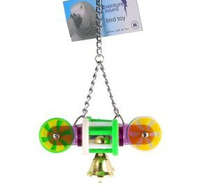 Rolls And Bells Plastic Bird Toy