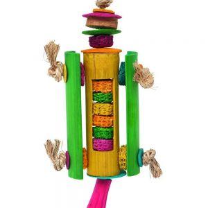 Rocket Ship Dried Corn Bird Toy