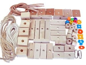 Bird Toy Making Kit Medium - Natural pieces