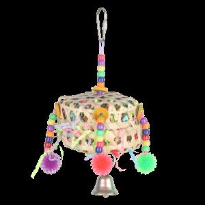 Crinkle Pomspoms Porcupine Ball Toy