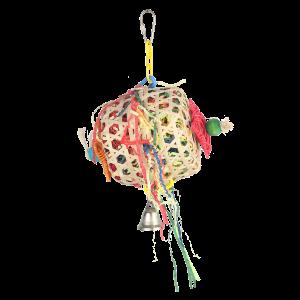 Crinkle Barrel Shreddable Bird Toy