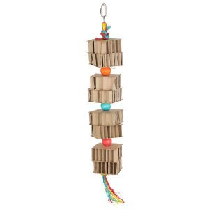 Cardboard Tower Shredding Bird Toy