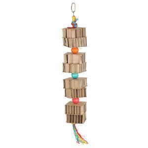 Cardboard Tower Shredding Bird Toy