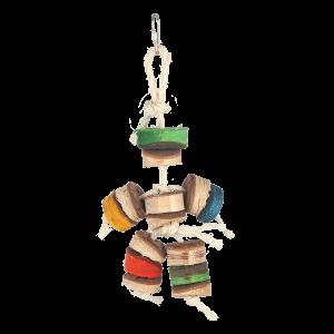 Kabob Man Soft Wood Bird Toy