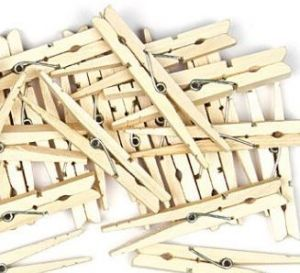 Natural Wood Pegs Pack 20