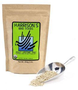 Harrison`s Adult Lifetime Fine Organic Parrot Food 454g