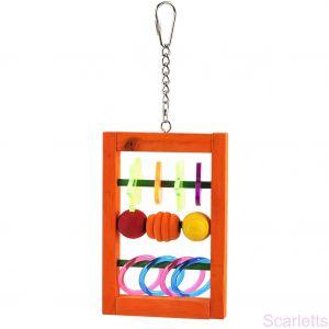 Acrylic Abacus Hanger Bird Toy