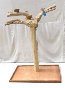 JAVA TREE - LARGE - NATURAL HARDWOOD PARROT PLAYSTAND BL60800