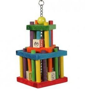 Building Blocks Maze Wood Bird Toy