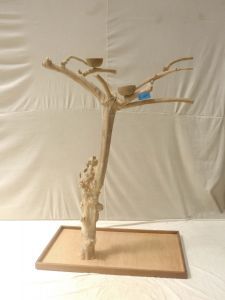 JAVA TREE - MEDIUM - NATURAL HARDWOOD PARROT PLAYSTAND BM50564