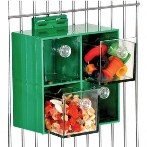 Four Big Drawers Forager Large Bird Foraging Toy