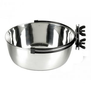 Stainless Steel Secura Bird Food Bowl/Bird Bath 2 Litres