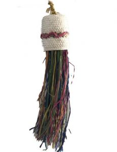 Coloured Multi Raffia Chew Toy