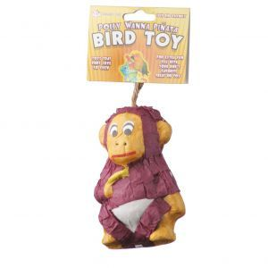 Baby Monkey Pinata Foraging Bird Toy
